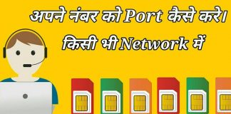 Number Port kaise kre