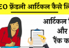 SEO friendly article Writing hindi