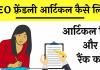SEO friendly article Writing hindi