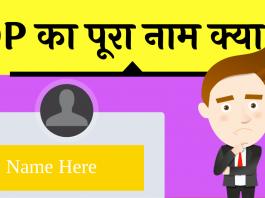 dp full form hindi