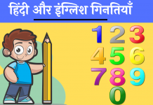 Numbers counting hindi