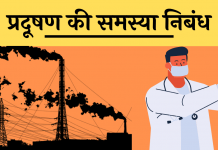 nibandh Essay on Pollution pardudhan hindi me